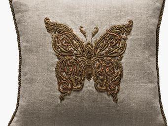 De Le Cuona - butterfly metal  - Cuscino Quadrato
