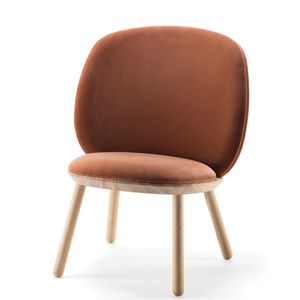 EMKO - naive low chair - fauteuil velours - Poltrona
