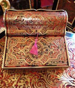 Art & Antiques - ecritoire / porte lettres important en marqueterie - Box Scrittoio