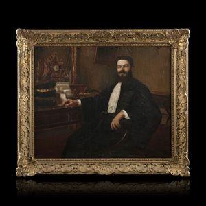 Expertissim - georges hippolyte dilly. portrait présumé e. berti - Ritratto