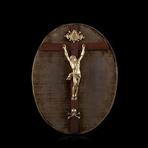 Expertissim - christ janséniste en bronze doré - Crocifisso