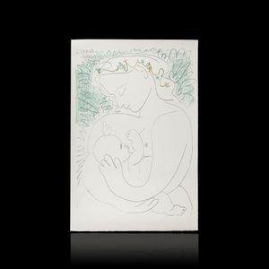 Expertissim - d'après picasso. maternité, grand format - Stampa