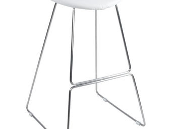 Alterego-Design - tabouret de bar / cuisine design 'ovni' en cuir - Sgabello Da Bar