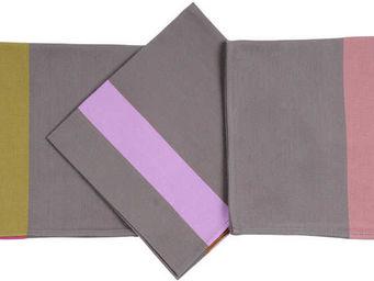 Artiga - serviette de table tarsac mauve - Tovagliolo