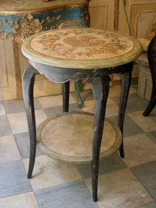 Terra Di Siena - directoire mascaronne - Tavolino Rotondo