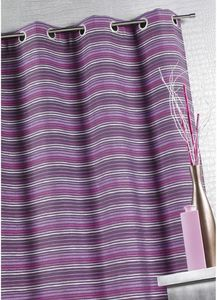 HOMEMAISON.COM - rideau ameublement en jacquard à fines rayures - Tende A Occhielli