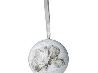 Mathilde M - boule décorative roses - Sfera Decorativa