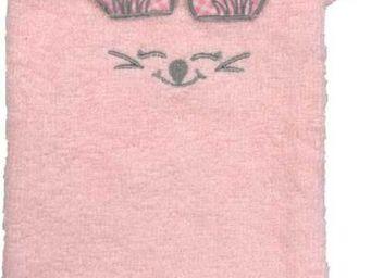 SIRETEX - SENSEI - gant de toilette enfant en forme de souris rose - Guanto Da Bagno