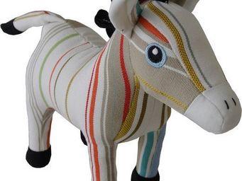 Les Toiles Du Soleil - doudou âne sans souci blanc/beige - Pupazzetti