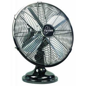 FARELEK - ventilateur ø 30 cm de table, 3 vitesses, chromé f - Ventilatore Da Tavolo