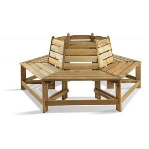 JARDIPOLYS - banc de jardin en bois tour d'arbre jardipolys - Panca Da Giardino Circolare