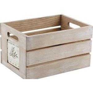 Aubry-Gaspard - caisse de rangement provence - Cassettiera Sistematutto