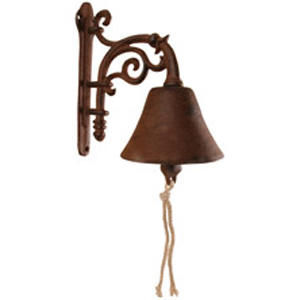 BEST FOR BOOTS - cloche de jardin en fonte fleurs 12x30x22cm - Campanella Da Esterno