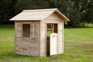 AXI - maisonnette en cèdre pour enfant noa 100x135x130cm - Casetta Da Giardino Per Bambini