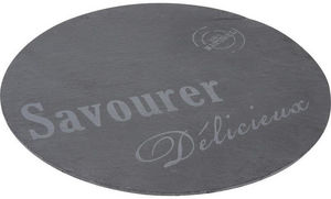 Aubry-Gaspard - plateau tournant en ardoise savourer - Vassoio
