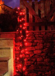 FEERIE SOLAIRE - guirlande solaire 60 leds rouges à clignotements 7 - Ghirlanda Luminosa
