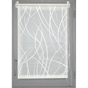 Luance - store enrouleur tamisant imprimé 60x180cm blanc - Tenda Occultante A Pannello