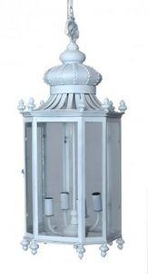 Demeure et Jardin - lanterne fer forgé couronne blanche - Lanterna Da Esterno
