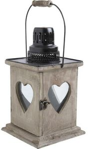 Aubry-Gaspard - lanterne coeur en bois vieilli - Lanterna Da Esterno