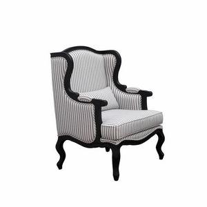 INTERIOR'S - fauteuil césarine tissu rayé - Poltrona Bergère