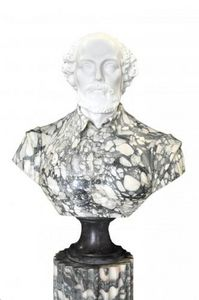 Demeure et Jardin - buste en marbre de william shakespeare - Busto