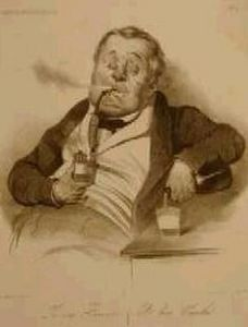 Galerie Laurencin - le vrai fumeur - Litografia