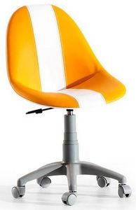 WHITE LABEL - chaise de bureau enfant coloris orange - Sedia Ufficio