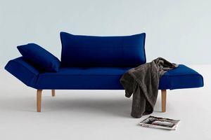 WHITE LABEL - innovation living canape lit design zeal bow velv - Divano Letto Clic Clac (apertura A Libro)