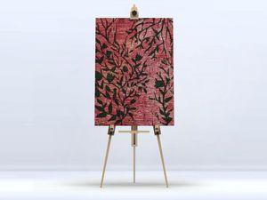 la Magie dans l'Image - toile plantes rouges - Stampa Digitale Su Tela