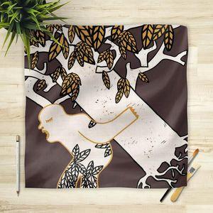 la Magie dans l'Image - foulard arbre marron - Foulard Quadrato