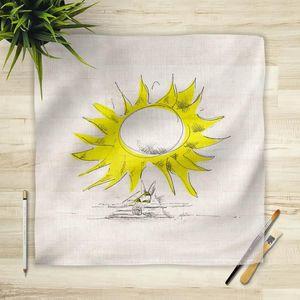 la Magie dans l'Image - foulard soleil - Foulard Quadrato