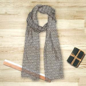 la Magie dans l'Image - foulard trèfle blanc noir - Foulard Quadrato