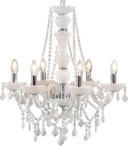 Amadeus - lustre trianon blanc - Lampadario