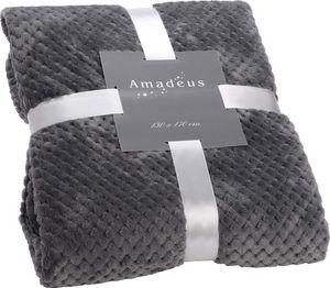 Amadeus - plaid damier gris - Coperta