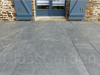 CLASSGARDEN - terrasse de 15 m² en dalle sciée de 100x100 - Lastra Per Pavimentazione Esterna