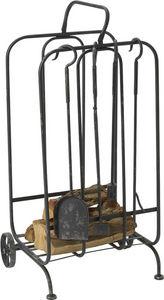 Amadeus - kit accessoires de cheminée - Porta Attrezzi Per Camino