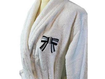 Liou - peignoir de bain blanc so chic bleu - Accappatoio