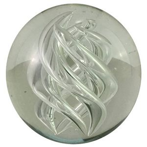 CHEMIN DE CAMPAGNE - presse-papier sulfure en verre ø8.5 cm - Fermacarte