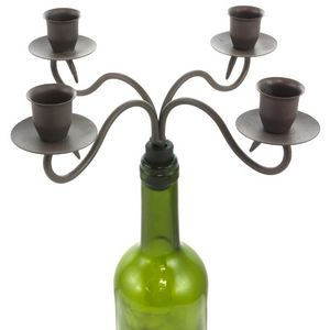CHEMIN DE CAMPAGNE - bougeoir chandelier à bouteilles 4 bougies 25x25 c - Candelabro