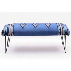 Mathi Design - banc kilim azur - Panca
