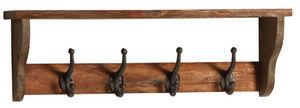 Aubry-Gaspard - patère en bois avec 4 crochets en métal - Appendiabiti Da Parete