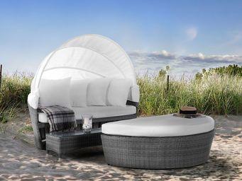 BELIANI - lit de jardin avec capote - Salotto Da Giardino