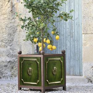 Poterie de La Madeleine - émaillé vert - Vaso Stile Orangerie