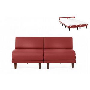 Likoolis - cuir artificiel rouge - Divano Letto
