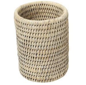 ROTIN ET OSIER - pot cylindrique olivier - Matita Pentola