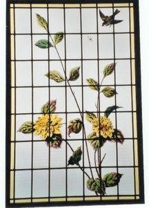 L'Antiquaire du Vitrail - dalhias - Vetrata Artistica