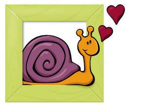 DECOLOOPIO - tableau escargot - Adesivo Decorativo Bambino