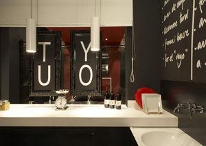 SILESTONE et ECO BY COSENTINO - blanco fintion leather - Piano Da Lavoro Cucina
