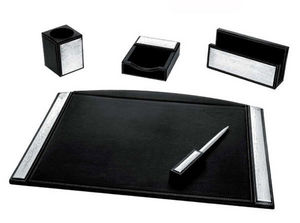 INTERNATIONAL GIFT_LARMS GROUP - in pelle e argento - Set Scrivania