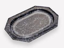 Rigaflex - marbre/noir octogonal - Vassoio